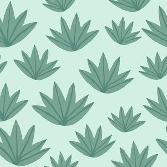 Tropisches grün lässt nahtloses muster. exotische pflanze.