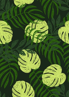 Tropisches monstera-muster.