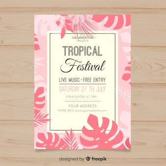 Tropisches musikfestivalplakat