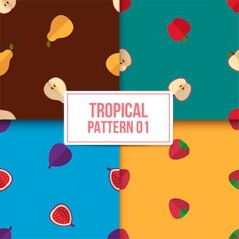 Tropisches muster bündeln