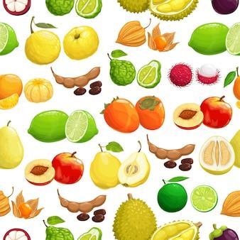 Tropisches muster der früchte