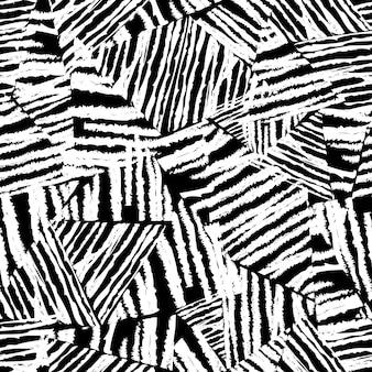 Tropisches muster, vektorblumenhintergrund. palmblätter nahtloses muster, abstact schwarze blätter. chaotische raue textur.