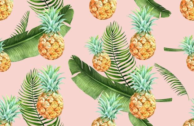 Tropisches musterblumenaquarell, dankeskarte, textildruckillustration