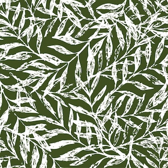 Tropisches nahtloses blumenmuster. vektor-illustration