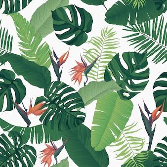 Tropisches nahtloses blumenmuster