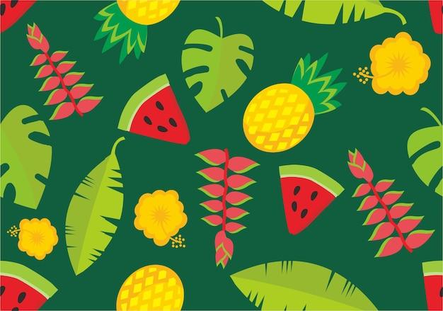 Tropisches niedliches muster