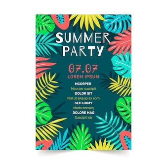 Tropisches partyplakat