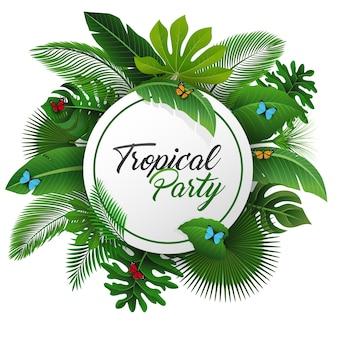 Tropisches partyzeichen