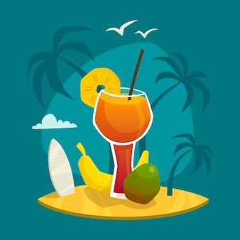 Tropisches saft-konzept