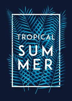Tropisches sommerblattplakat