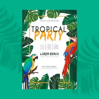 Tropisches sommerfest-plakat