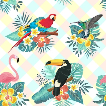 Tropisches vogel-nahtloses muster
