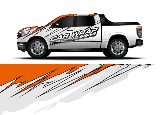 Truck wrap design-konzept für vinyl sticker branding