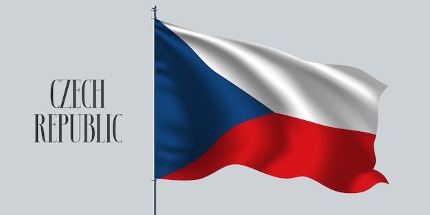 Tschechische republik, die flaggenillustration schwenkt