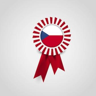 Tschechische republik-flaggen-band-fahnen-abzeichen