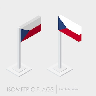 Tschechische republik isometrische flagge