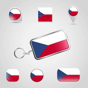 Tschechische republik-markierungsfahne