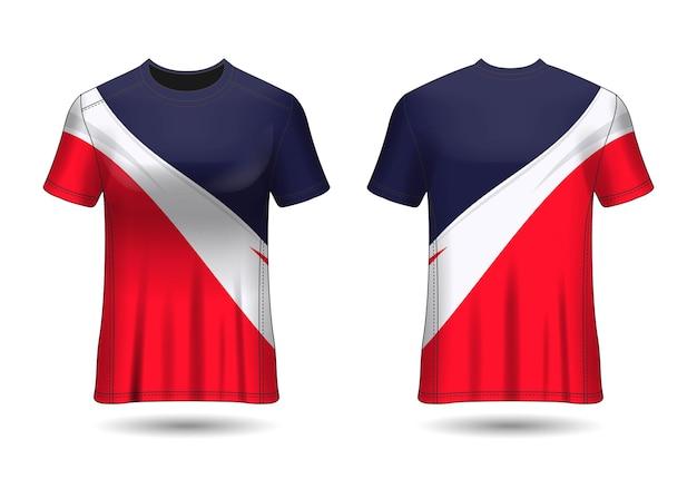 Tshirt sport design racing trikot für vereinsuniform vorder- und rückansicht