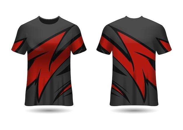 Tshirt sport design racing trikot für vereinsuniform vorder- und rückansichttshirt sport design raci