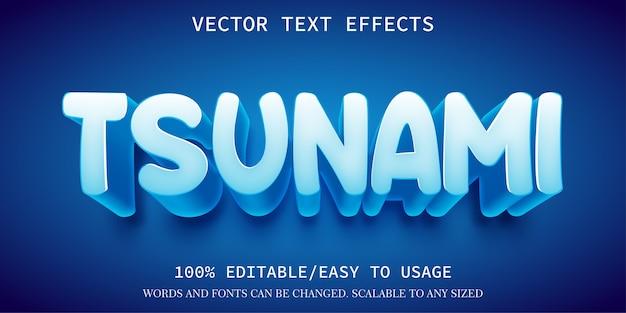 Tsunami-texteffektschablone