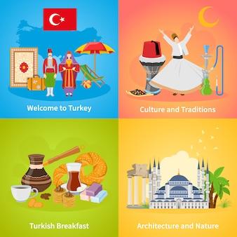 Türkei 2x2 design-konzept-set