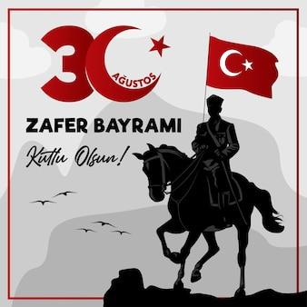Türkei glücklicher august dreißig tag des sieges atatürk
