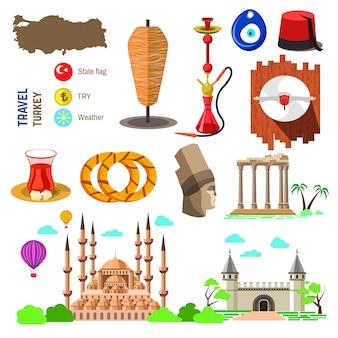 Türkei kultur und traditionelle symbole.