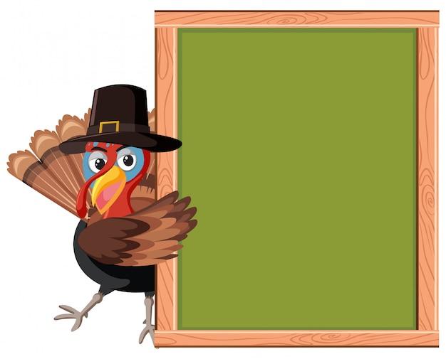 Türkei mit leerem rahmen