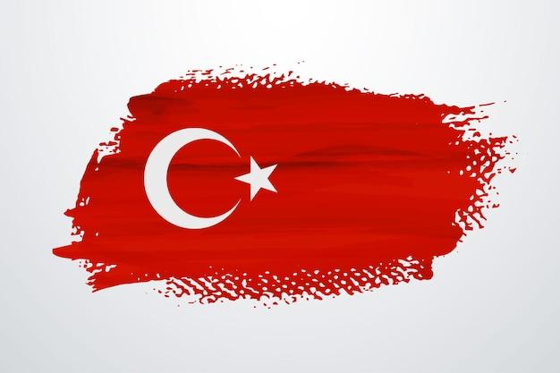 Türkei pinselfarbe flagge