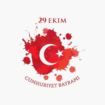 Türkei-republik-tageskonzept-nationalfeier