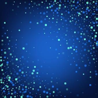 Türkis-rhombus-feier-blauer vektor-hintergrund. dekoration-quadrat-illustration. einladung partikel einladung. blaues karnevalsmuster.