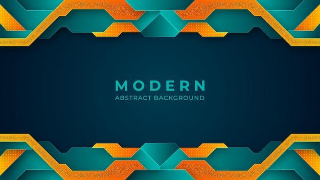 Türkis und orange färbt modernes hintergrunddesign