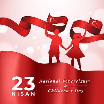 Türkische nationale souveränität und kindertag