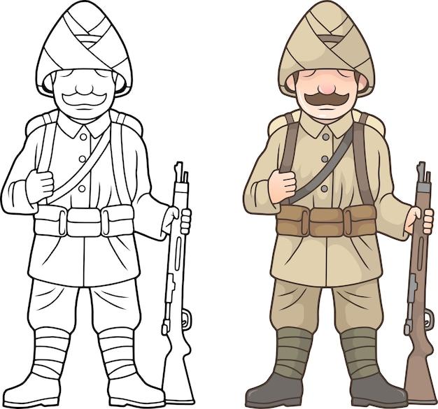 Türkischer soldat, weltkrieg