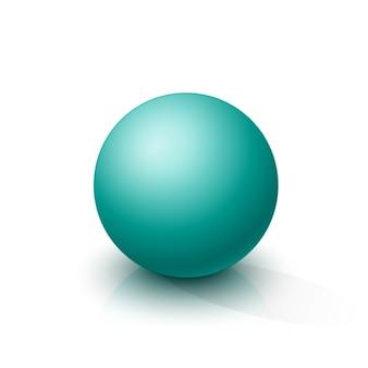 Türkisfarbene kugel
