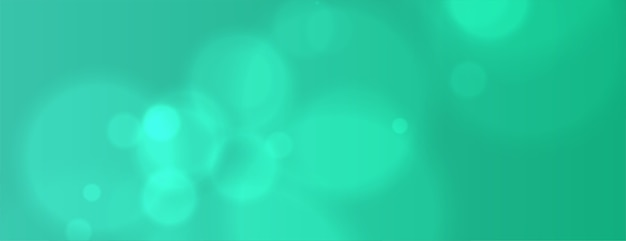 Türkisfarbenes bokeh-banner mit unschärfeeffekt