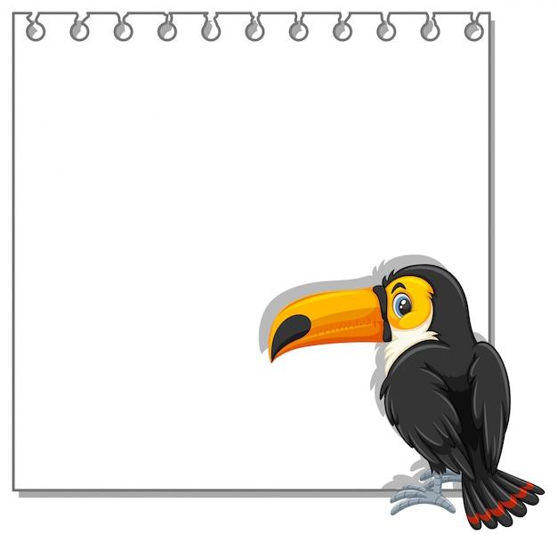 Tukan auf notizvorlage