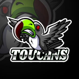 Tukan esport logo maskottchen design