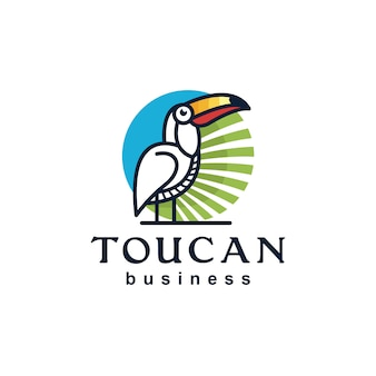 Tukan linie logo design