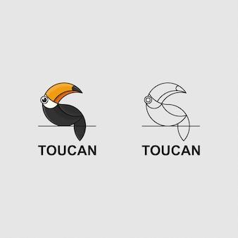 Tukan-logo mit goldenem schnitt