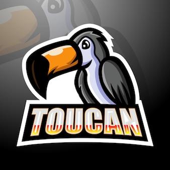 Tukan maskottchen esport logo design