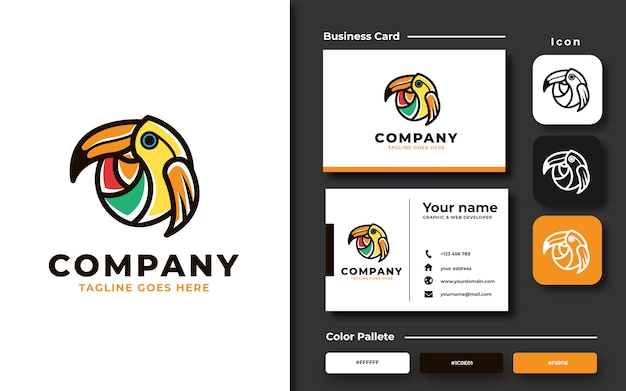 Tukan vogel logo vorlage