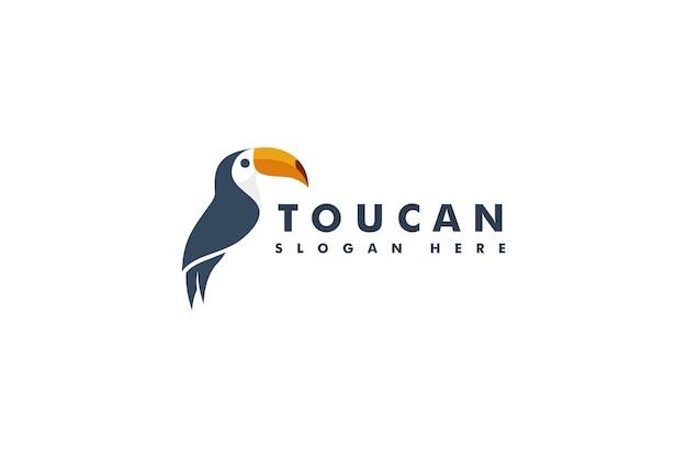 Tukan vogel maskottchen logo. tierkopf-logo