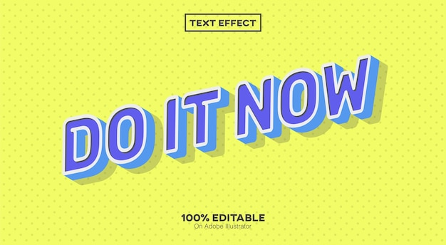Tun sie es jetzt text effekt isoliert auf gelb