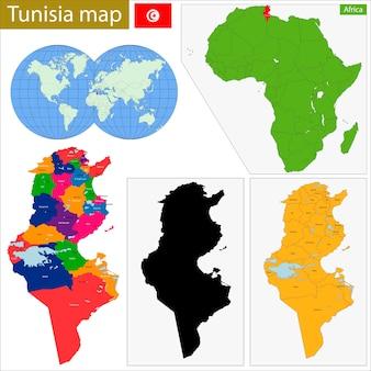 Tunesien karte