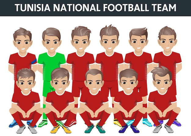 Tunesien national football team für internationales turnier