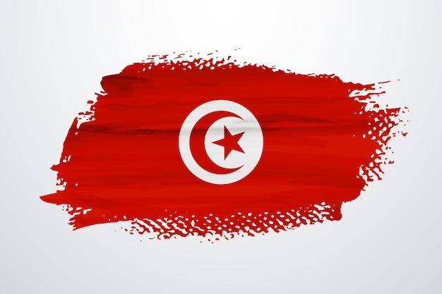 Tunesien pinselfarbe flagge