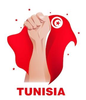 Tunesien unabhängigkeit flagge design
