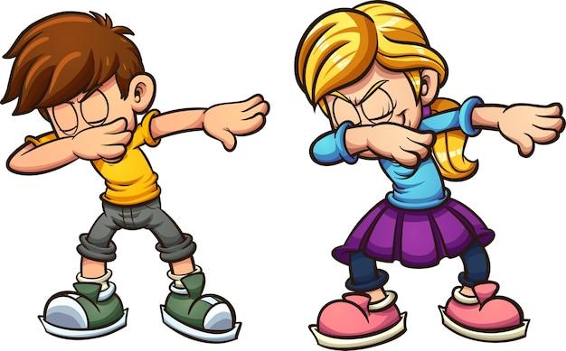 Tupfende kinder