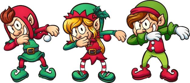 Tupfende weihnachtselfen